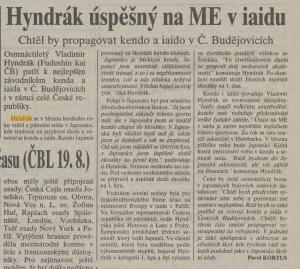 Českobudějovické listy 28.8.1996